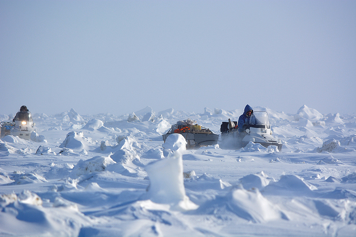 Patrol beruang di Chukotka.