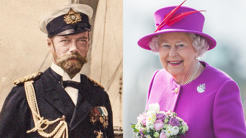 Kaisar Nikolai II, 1905; Ratu Elizabeth II, 2015.