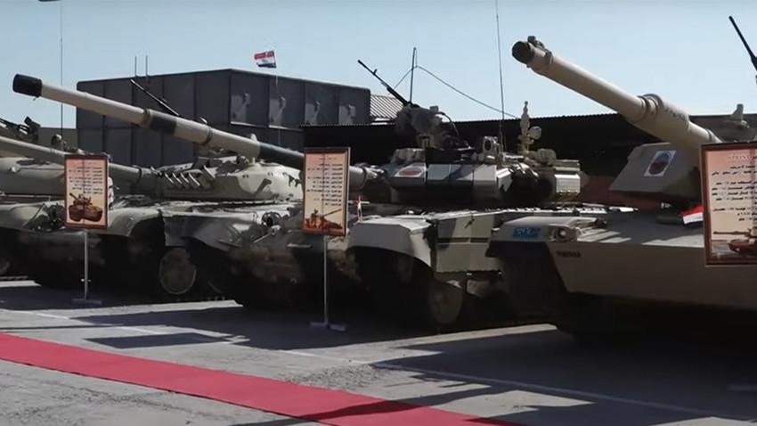 Los tanques Tipo 59, Т-72М1, Т-90S y М1А1М Abrams en Irak.