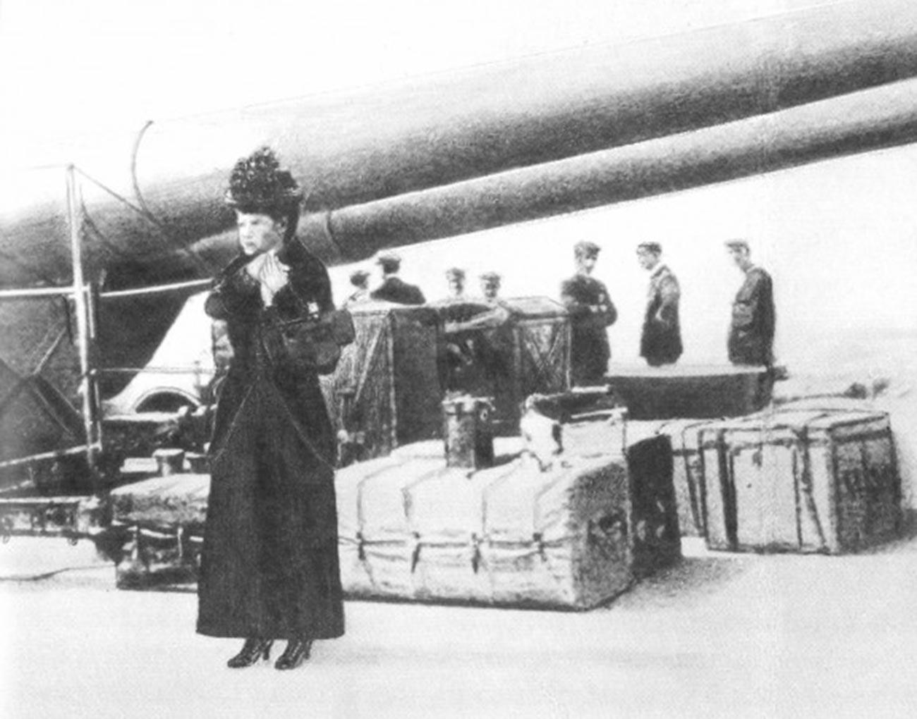 Императрицата-вдовица  Мария Фьодоровна. Евакуация от Крим през 1919 г.