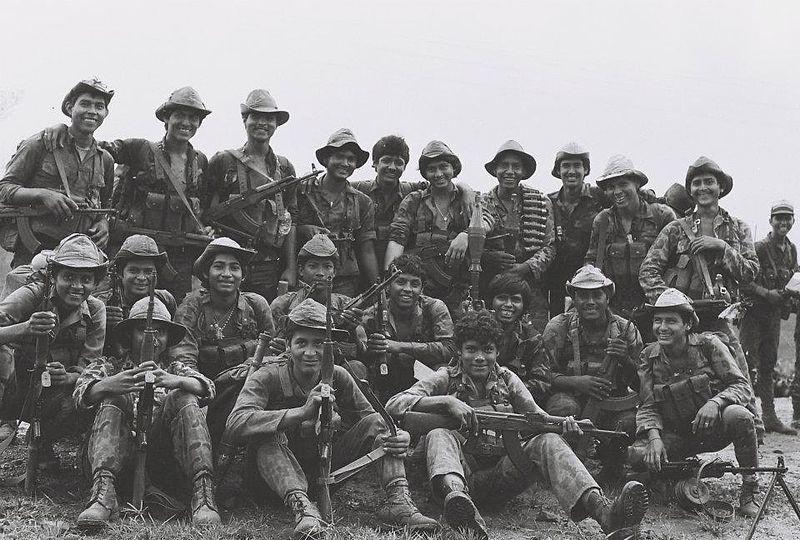 Miembros del Batallón de Lucha Irregular