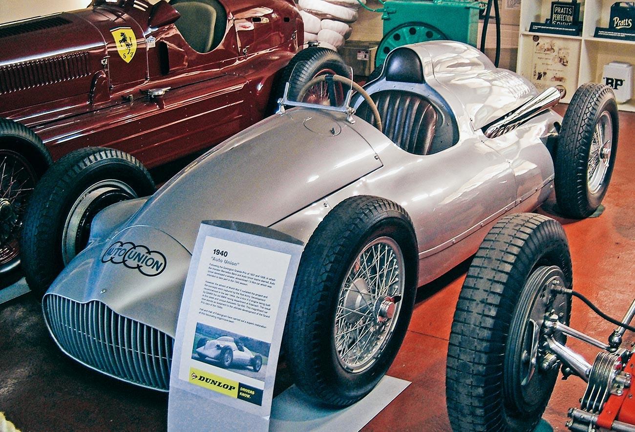 Auto Union Sokol Typ 650 dalam Koleksi Grand Prix Donington.