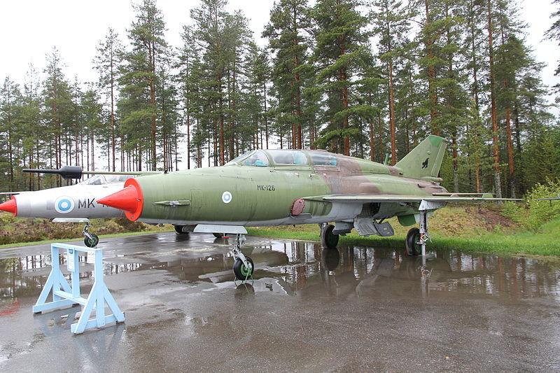Aparatos MiG-21 finlandeses en el Museo de la Aviación de Finlandia Central