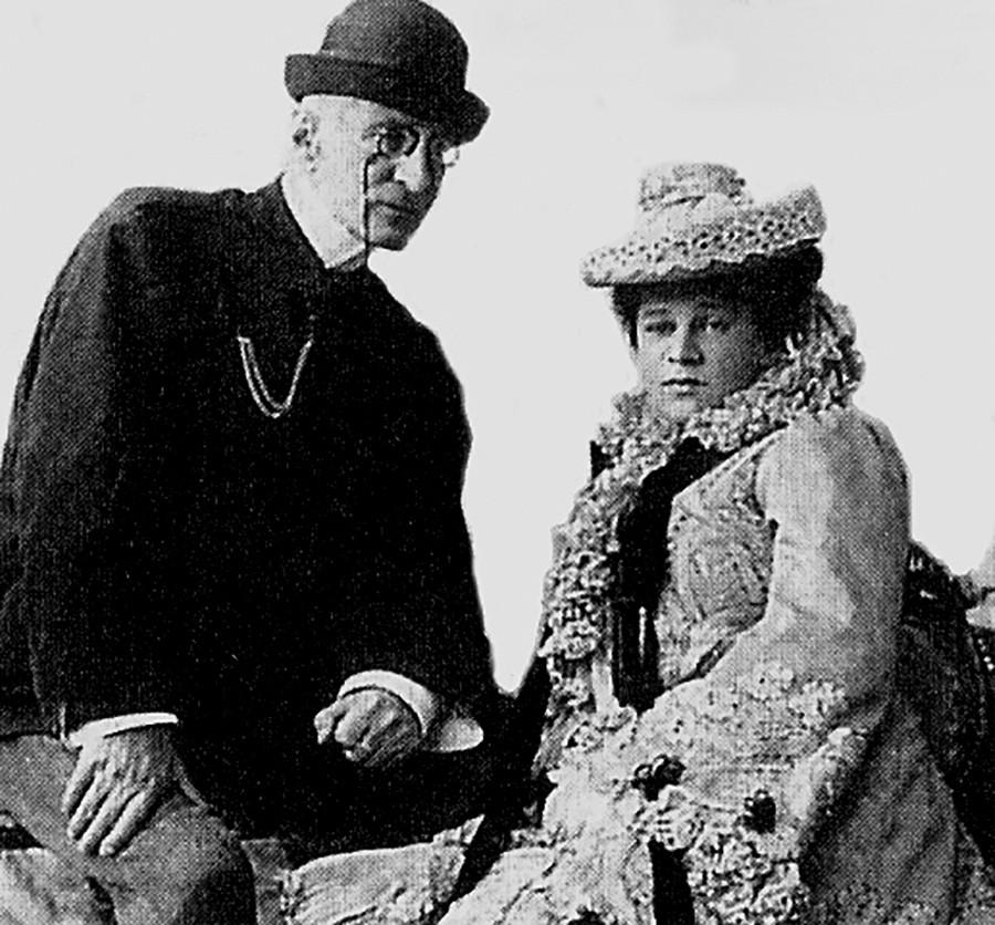 Nicolas Constantinovitch de Russie avec sa femme Nadejda