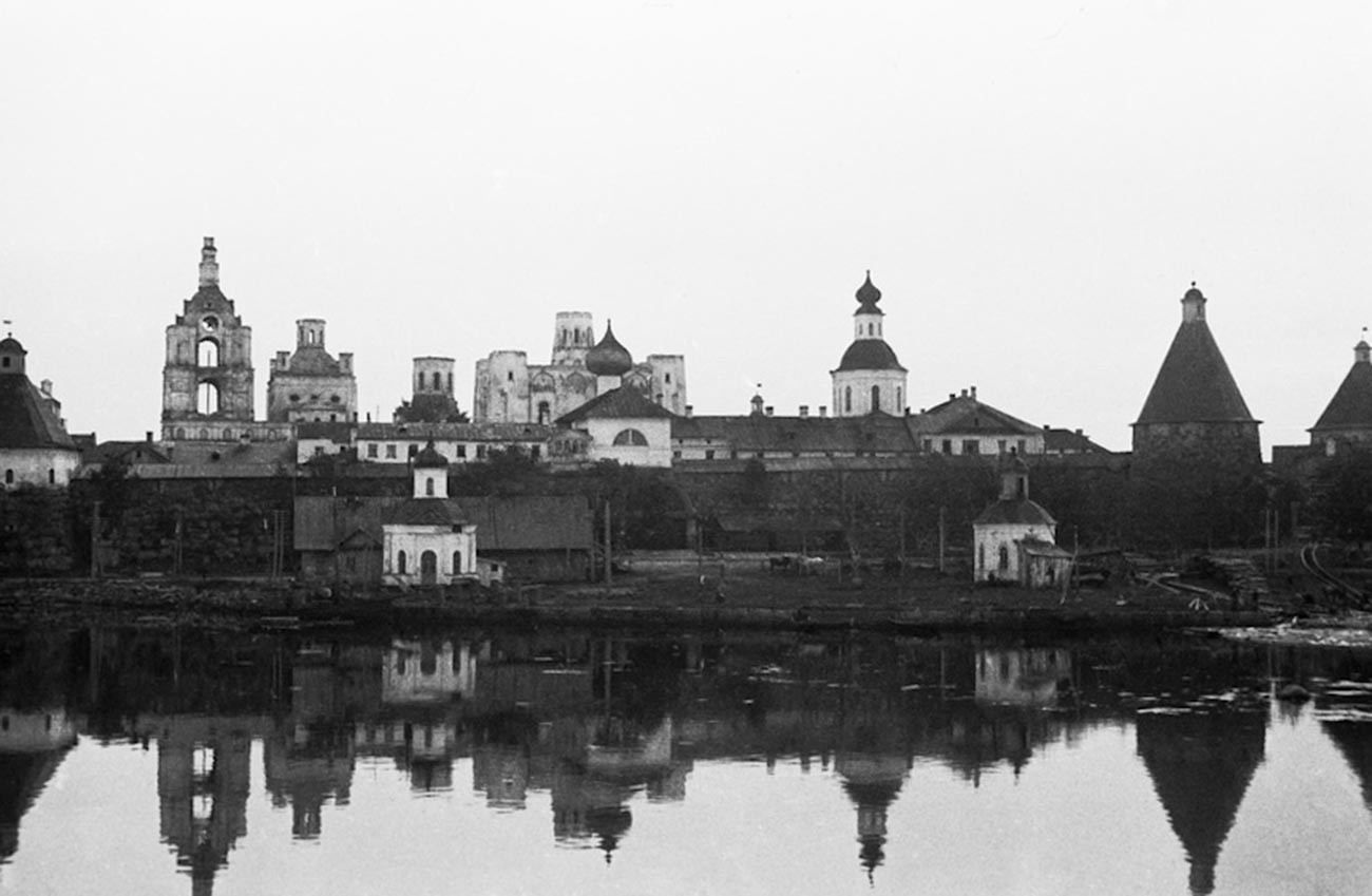 Solovetsky monastery that housed one of the first Gulag camps