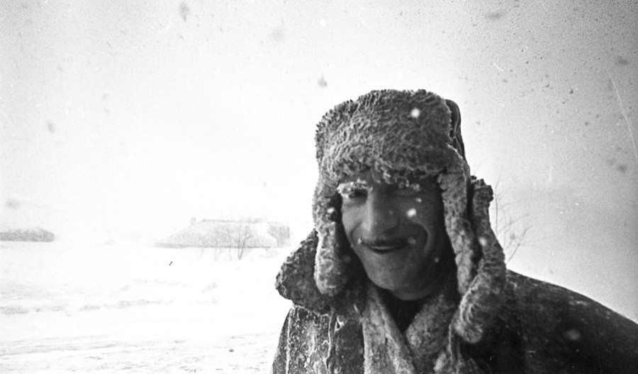 Zima v mestu, otok Sahalin