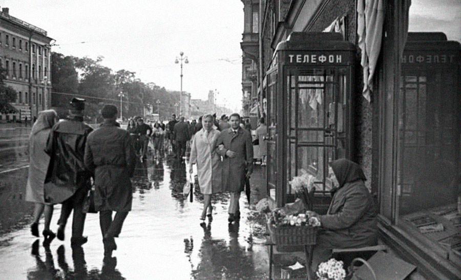 La perspective Nevski, à Leningrad
