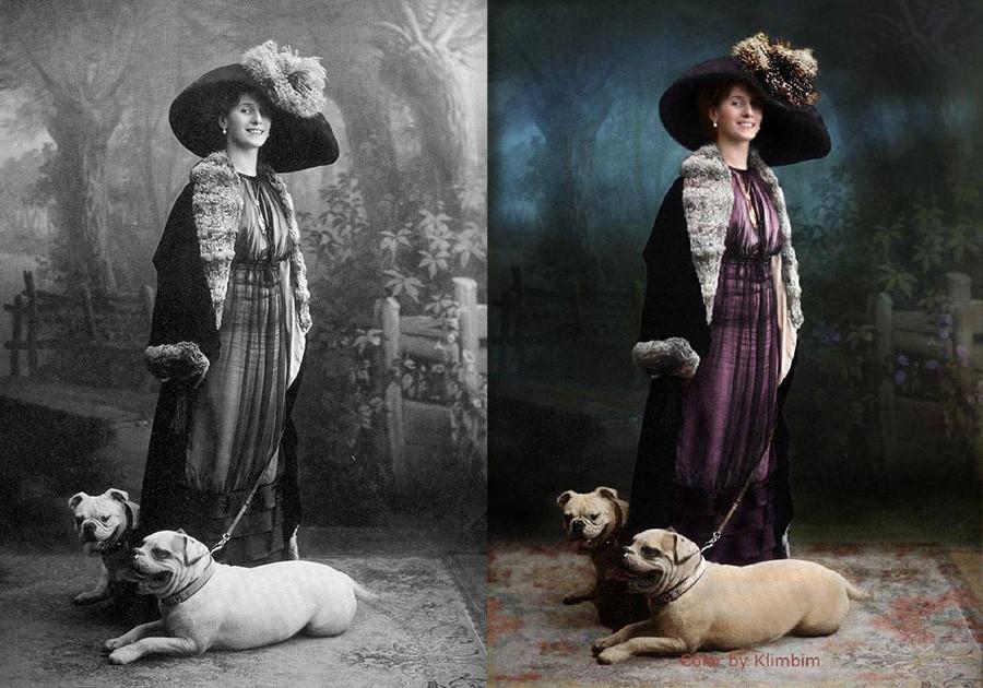 バレリーナ、アンナ・パヴロワと愛犬たち