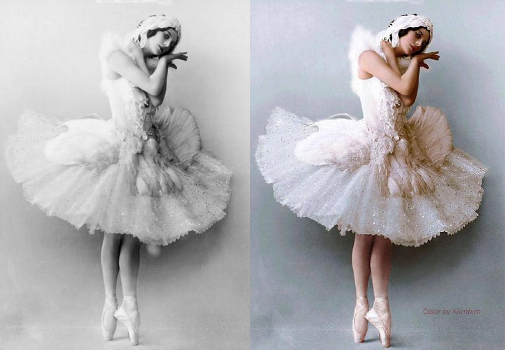 「白鳥の湖」の衣装を着たアンナ・パヴロワ