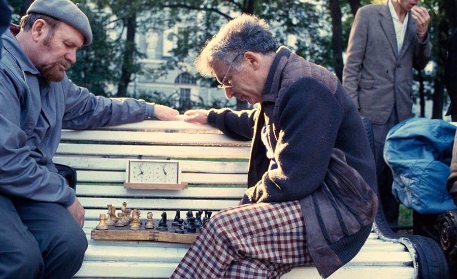 チェスで遊ぶ人たち。1993年