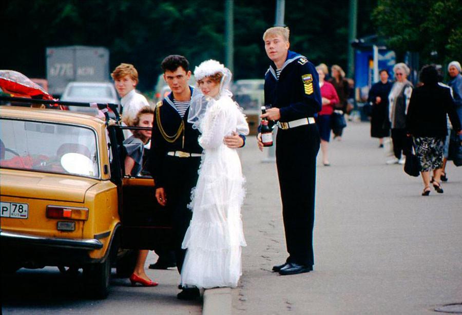 新婚夫婦。1995年