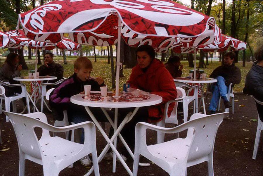 夏のカフェ。1995年