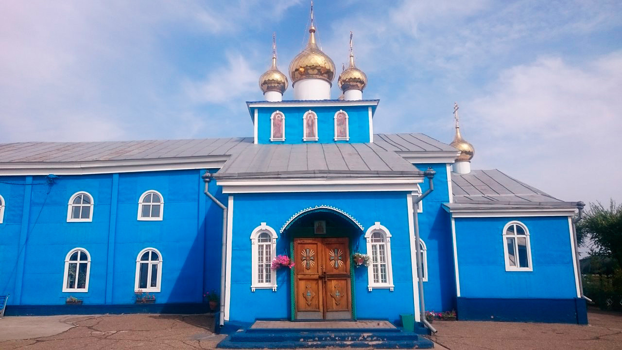 Kathedrale des Erzengel Michael in Karaganda, heute Kasachstan, erbaut 1946-1954