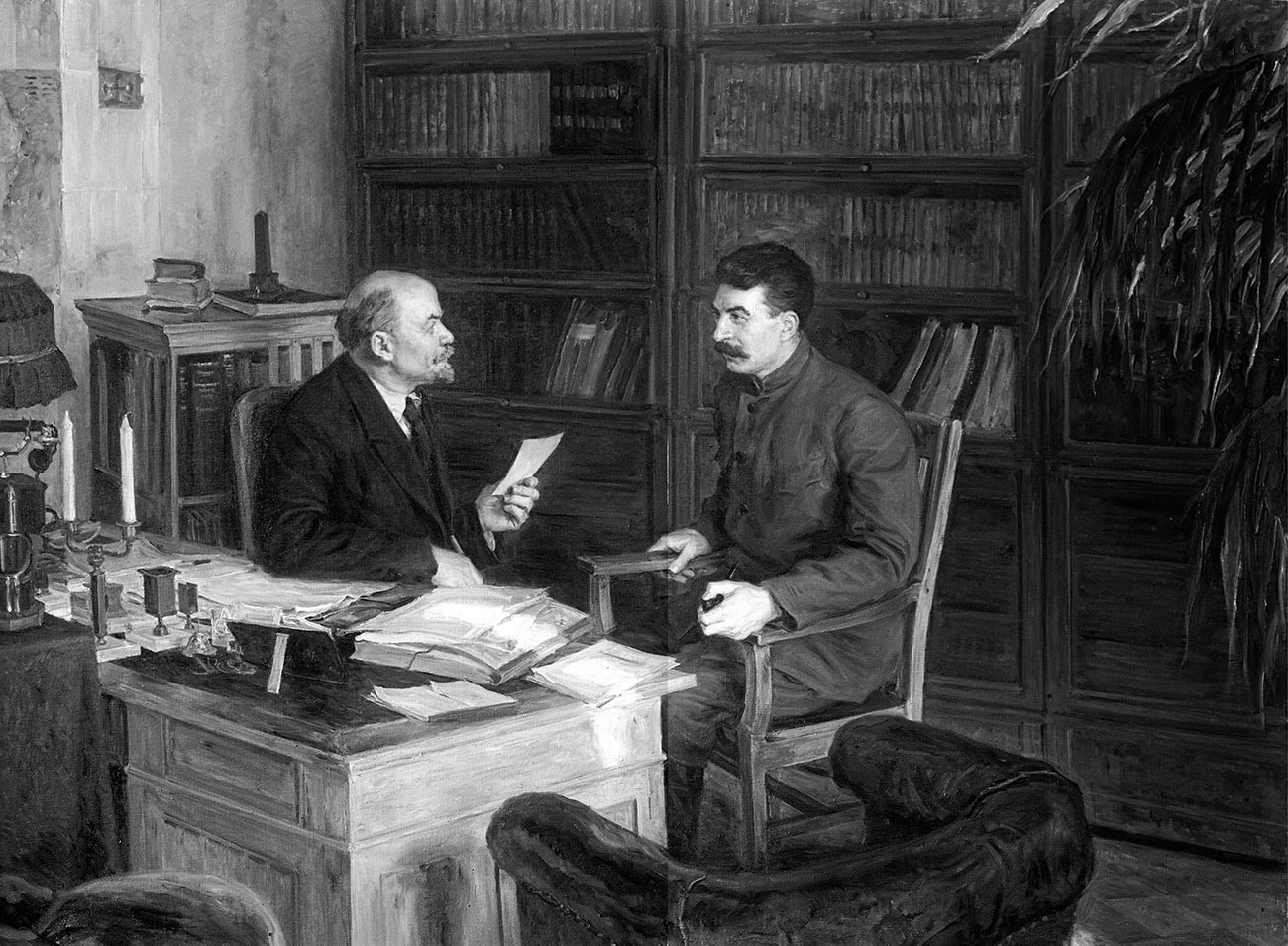 Lenin and Stalin.