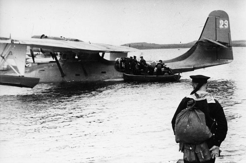 Hidroavión estadounidense Catalina fabricado con licencia en la URSS, en el mar Negro.