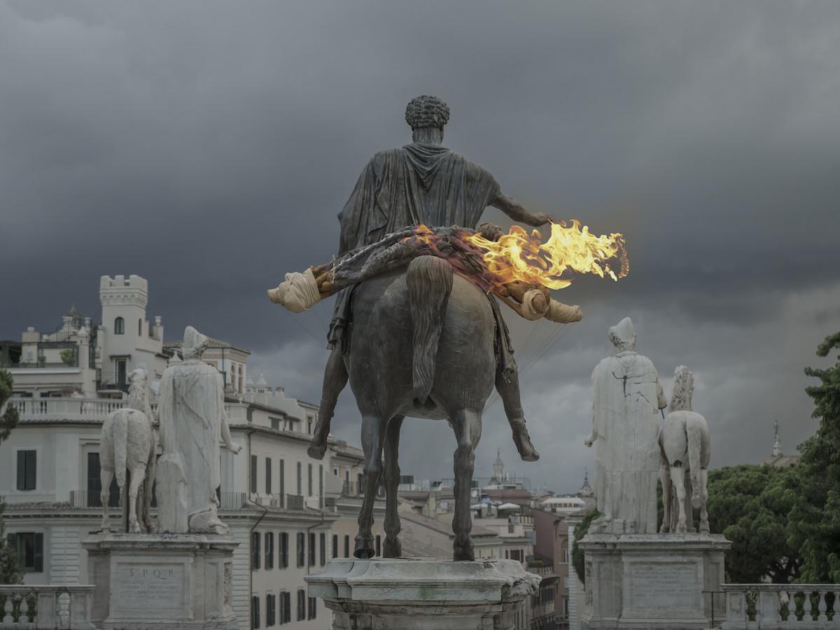Monia Ben Hamouda, Blair, 2020, Piazza del Campidoglio, Roma