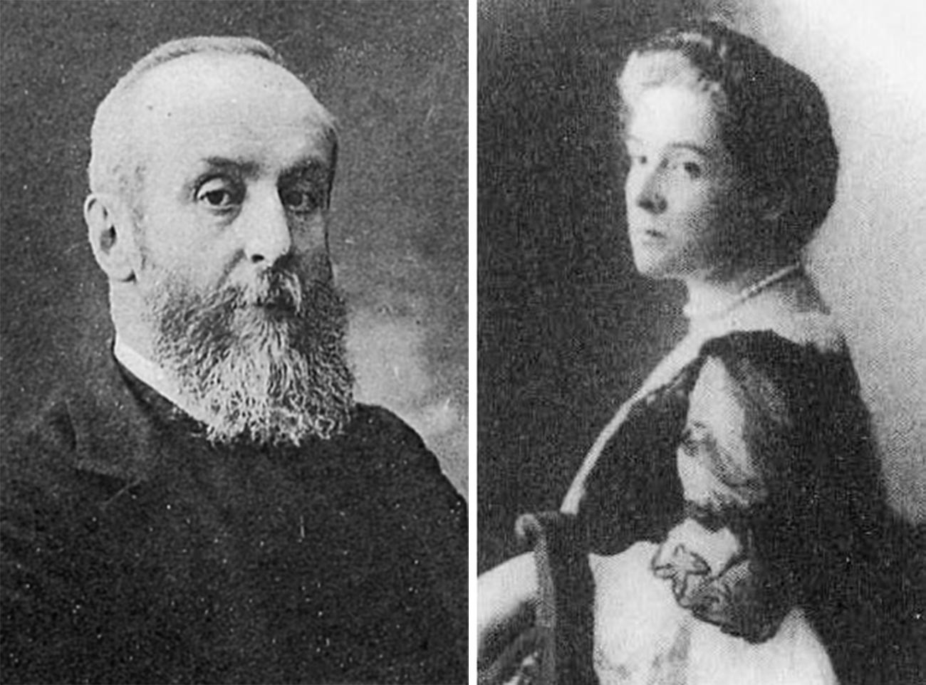 À  gauche - Alexeï Bobrinski, à droite - la comtesse Nadejda Bobrinskaïa