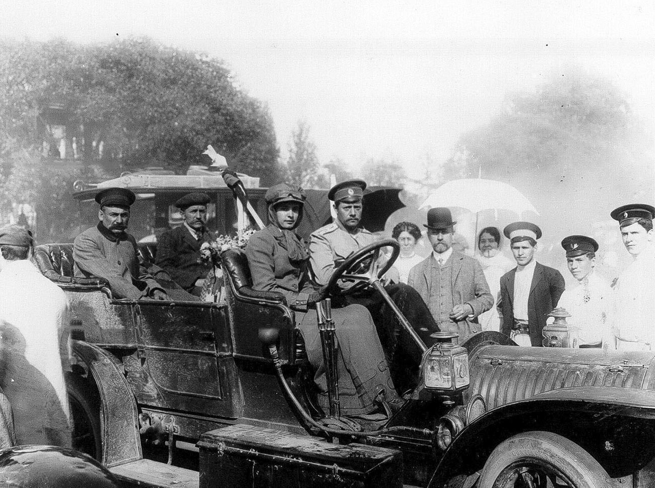 Sophia Dolgoroukova pendant la course impériale de 1910