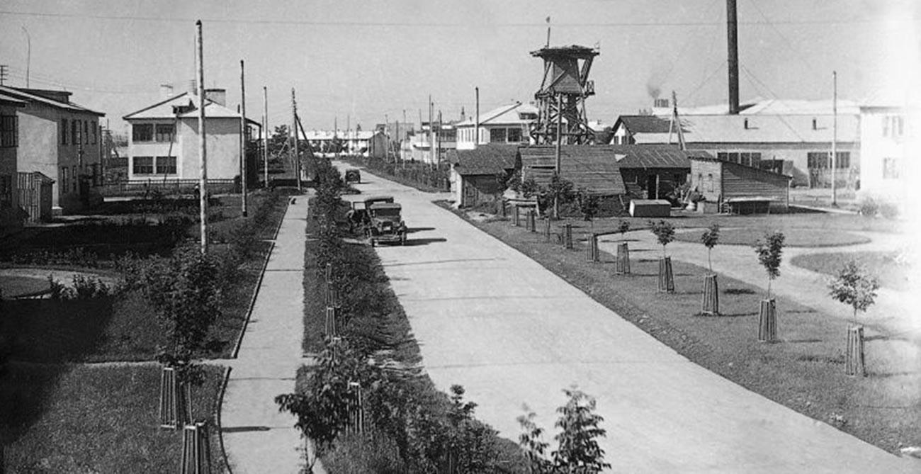 Вид на Американский поселок в Нижнем Новгороде.