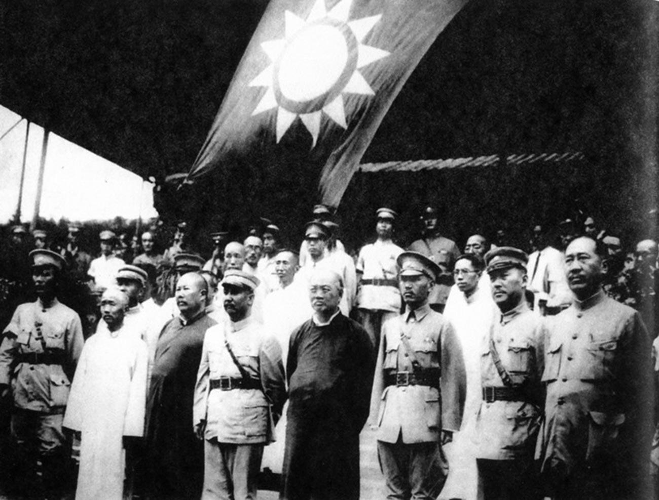 Die Generäle der Nationalen Revolutionsarmee der Kuomintang