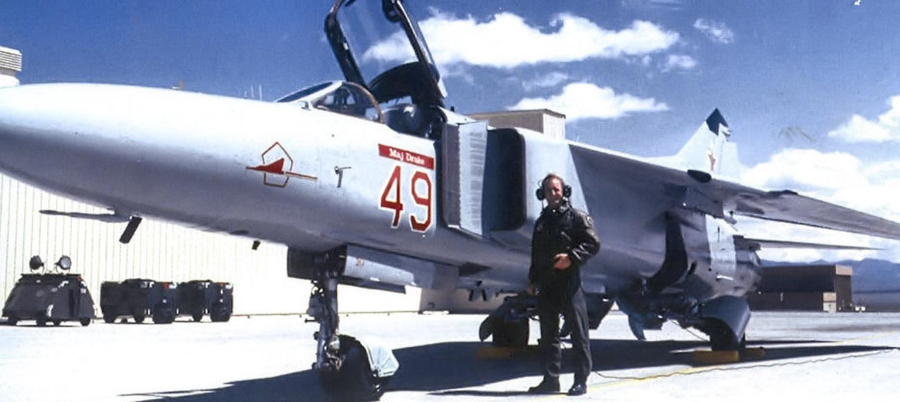 MiG-23 of the 4477th Test and Evaluation Squadron.