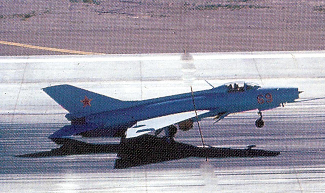 J-7B Red 69 of the 4477th Test and Evaluation Squadron.