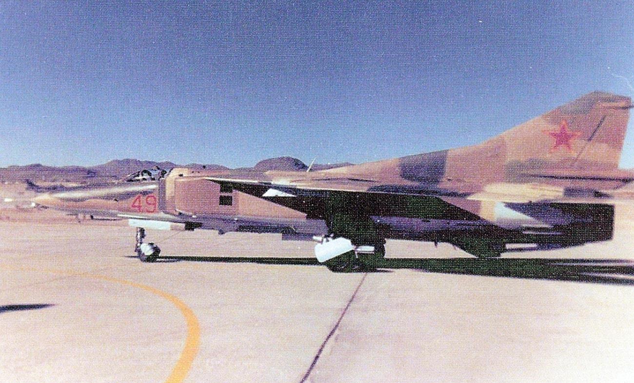 Un MiG-23 du 4477e escadron de test et d'évaluation