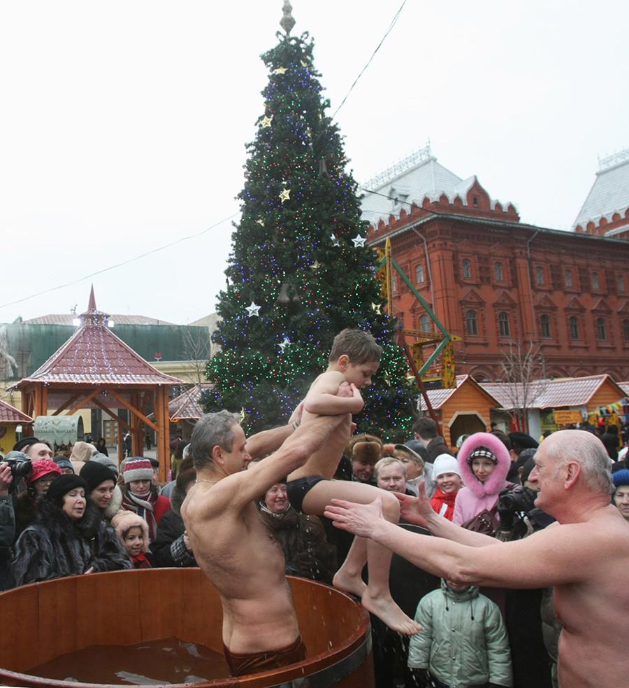 モスクワの中心部にも特別な場所が設置される