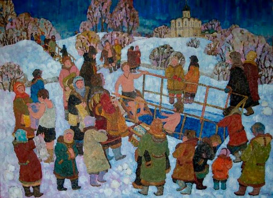 Dmitri Kholine. Théophanie. Église de l'Intercession-de-la-Vierge sur la Nerl, 2006