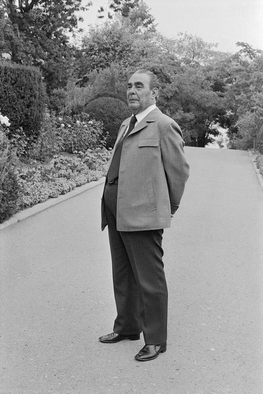 Генерален секретар на ЦК на КПСС Леонид Брежнев в Ялта.