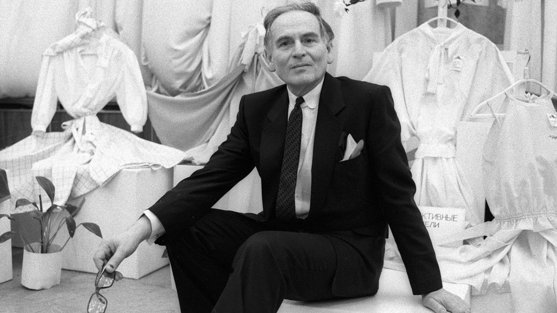 Pierre Cardin en Moscú, 1986