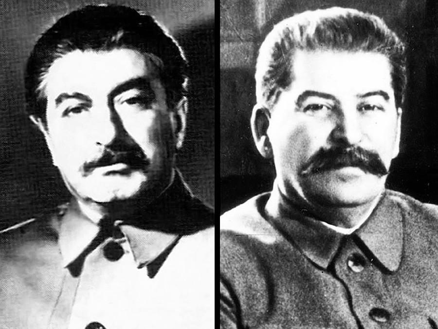 フェリクス・ダダエフ(左)とヨシフ・スターリン(右)
