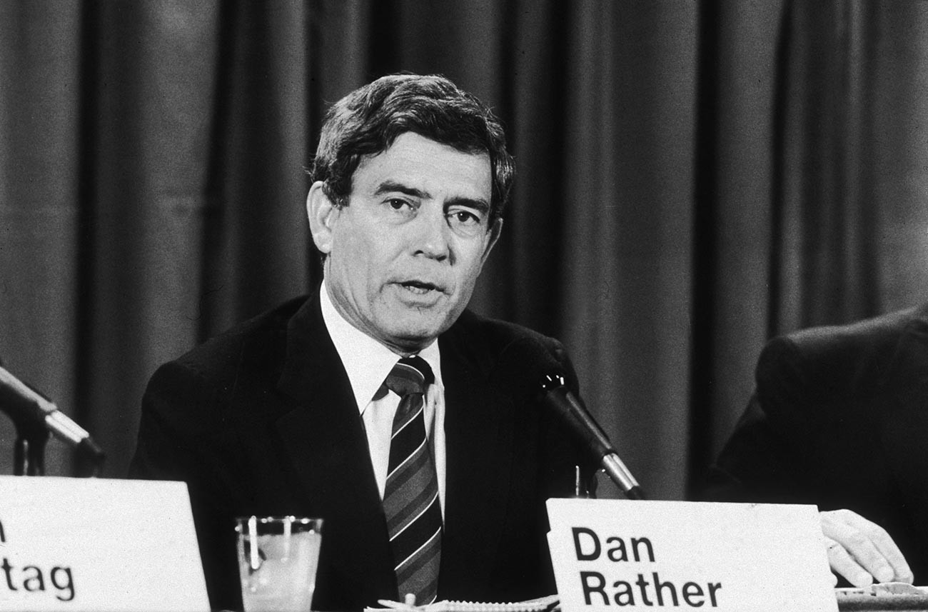 CBS News anchorman and broadcast journalist Dan Rather.