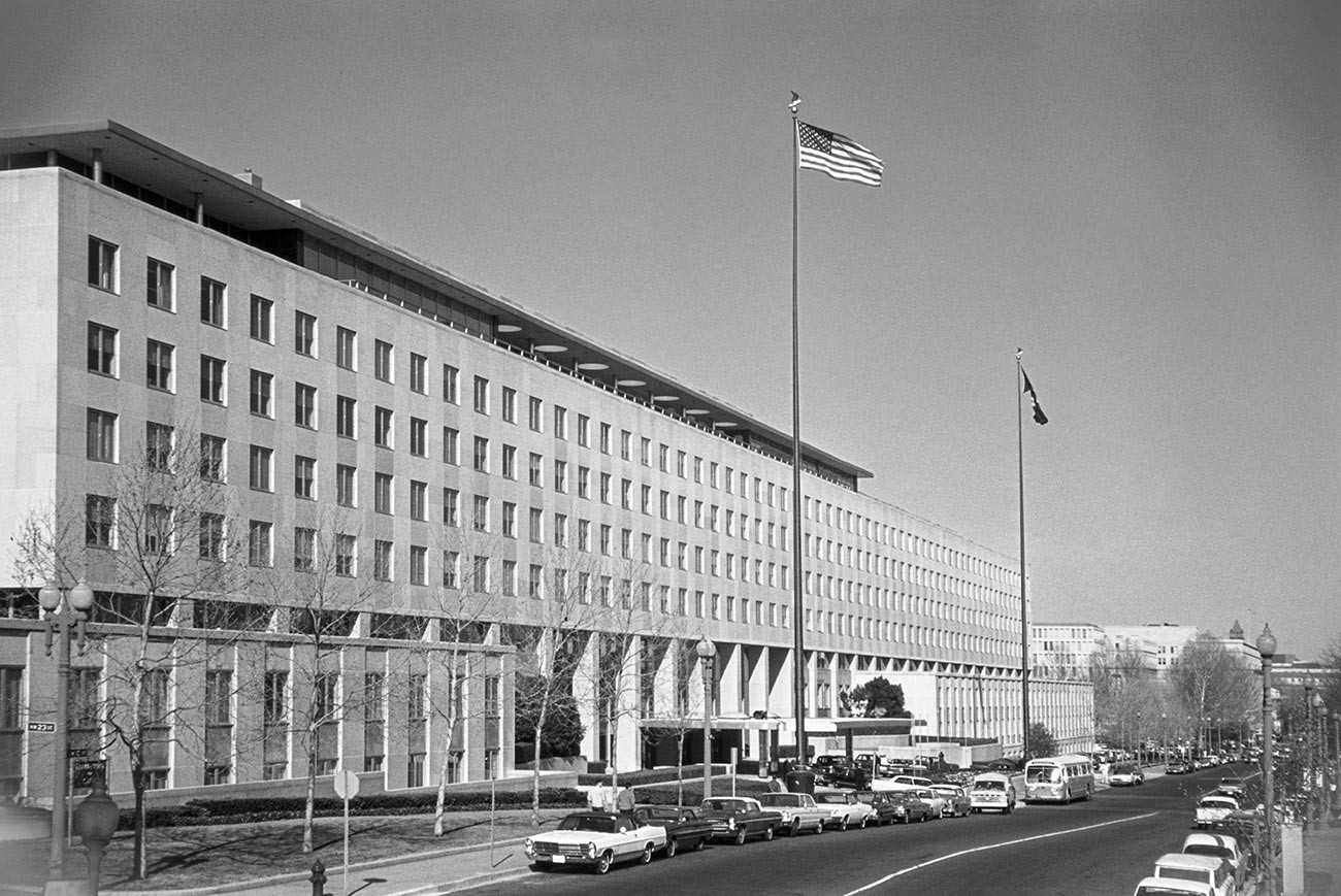 The U.S. State Department Building.