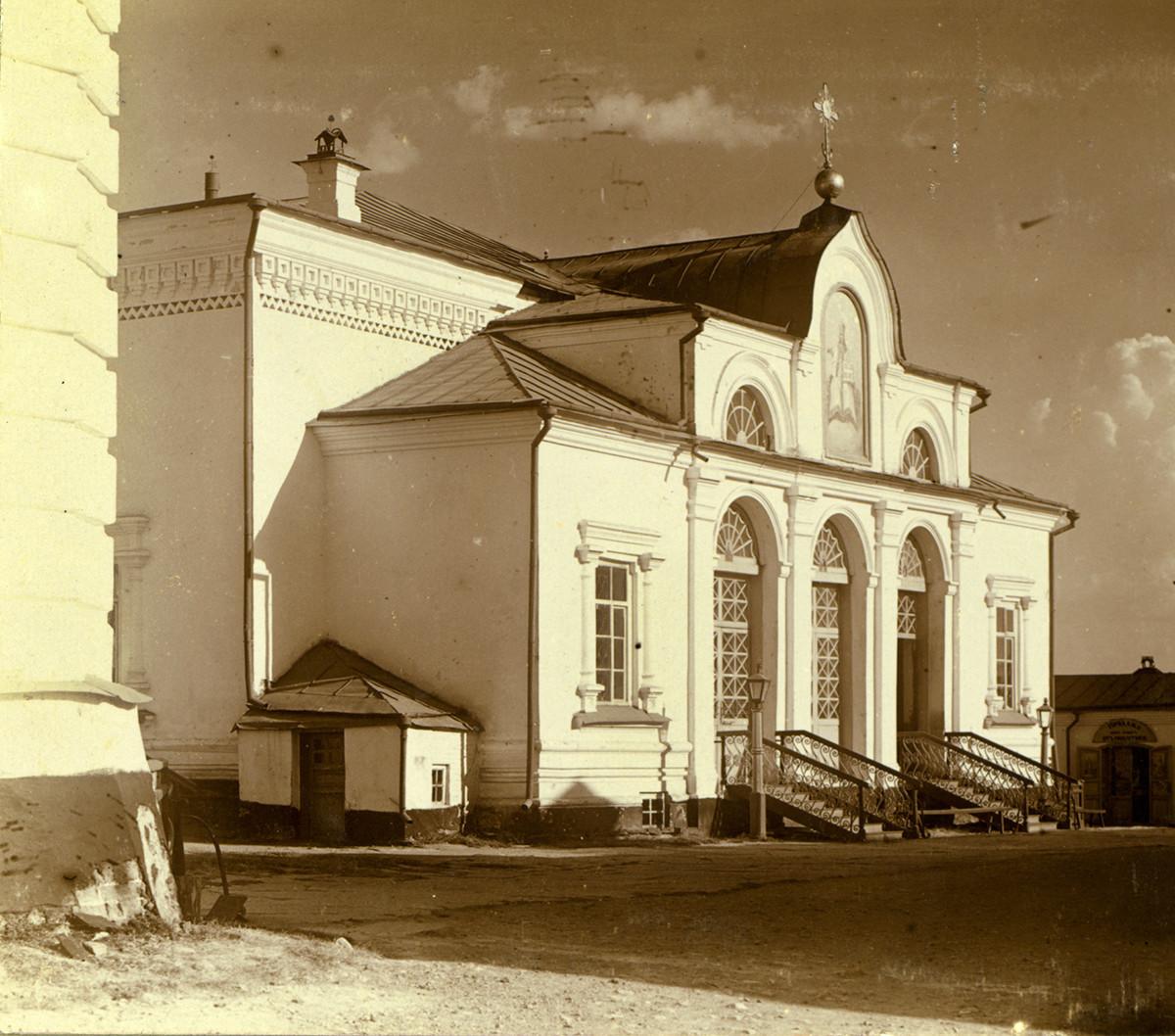 Iglesia de San Nicolás, vista noroeste. Demolida, reconstruida en forma diferente en 1998. Verano de 1909.