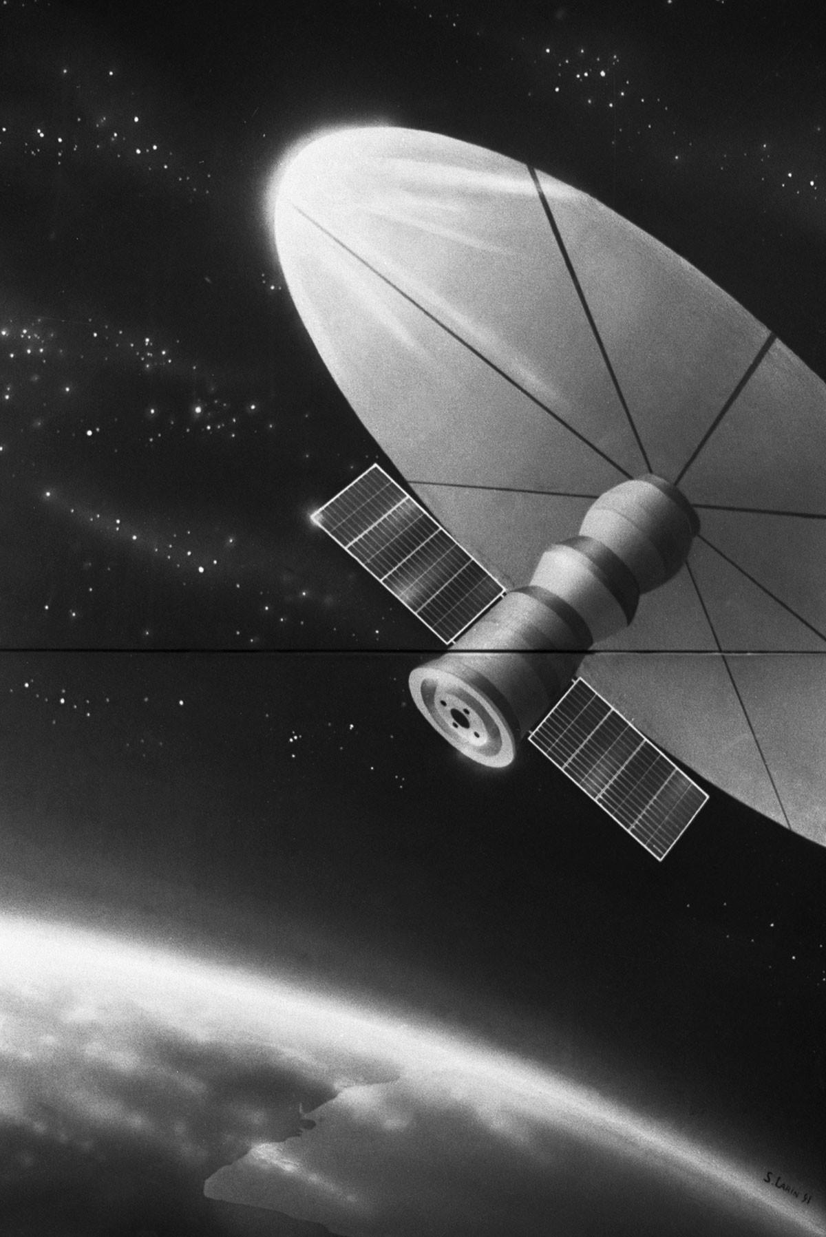 Le vaisseau Progress avec la voile solaire