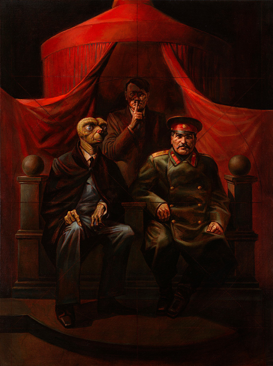V. Komar dan A. Melamid. Konferensi Yalta, 1982.