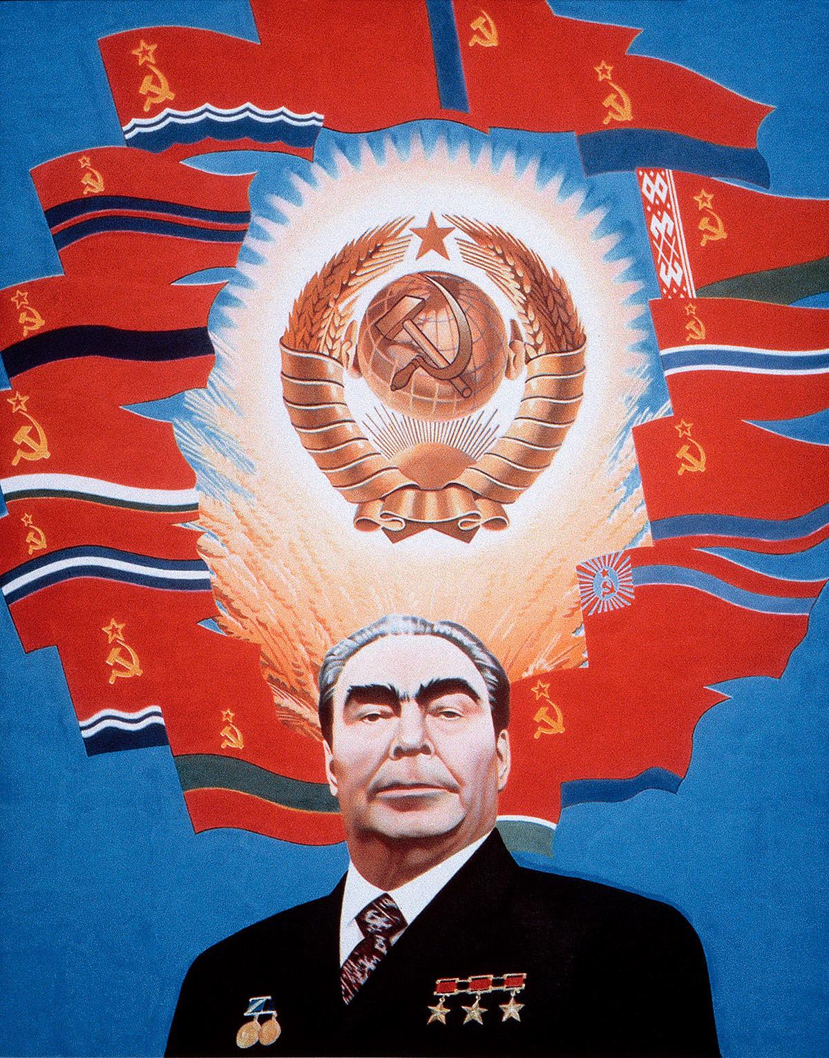 Eric Bulatov. Brezhnev. Ruang Angkasa Soviet, 1977.