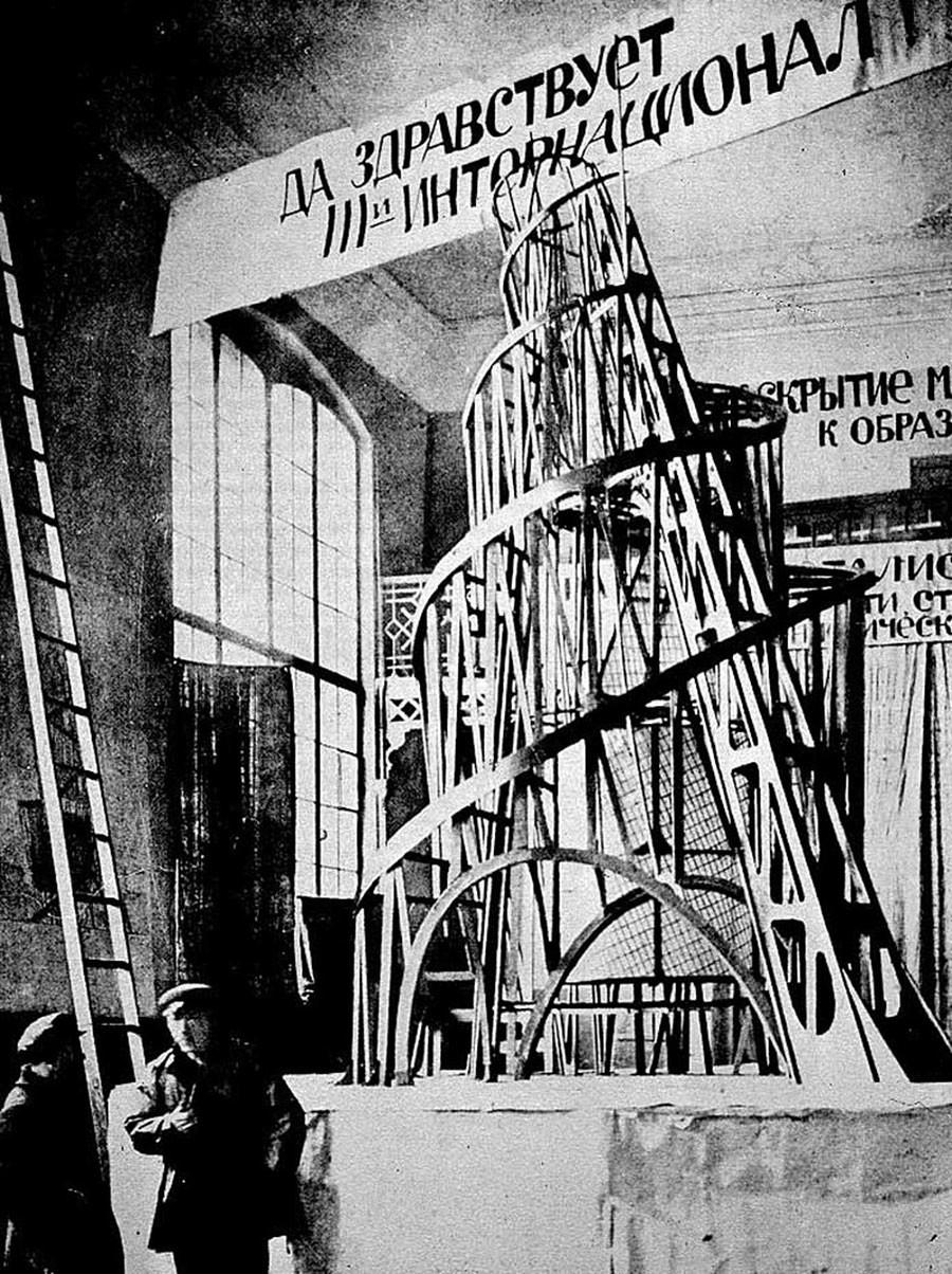 Un modellino della Torre Tatlin, 1919