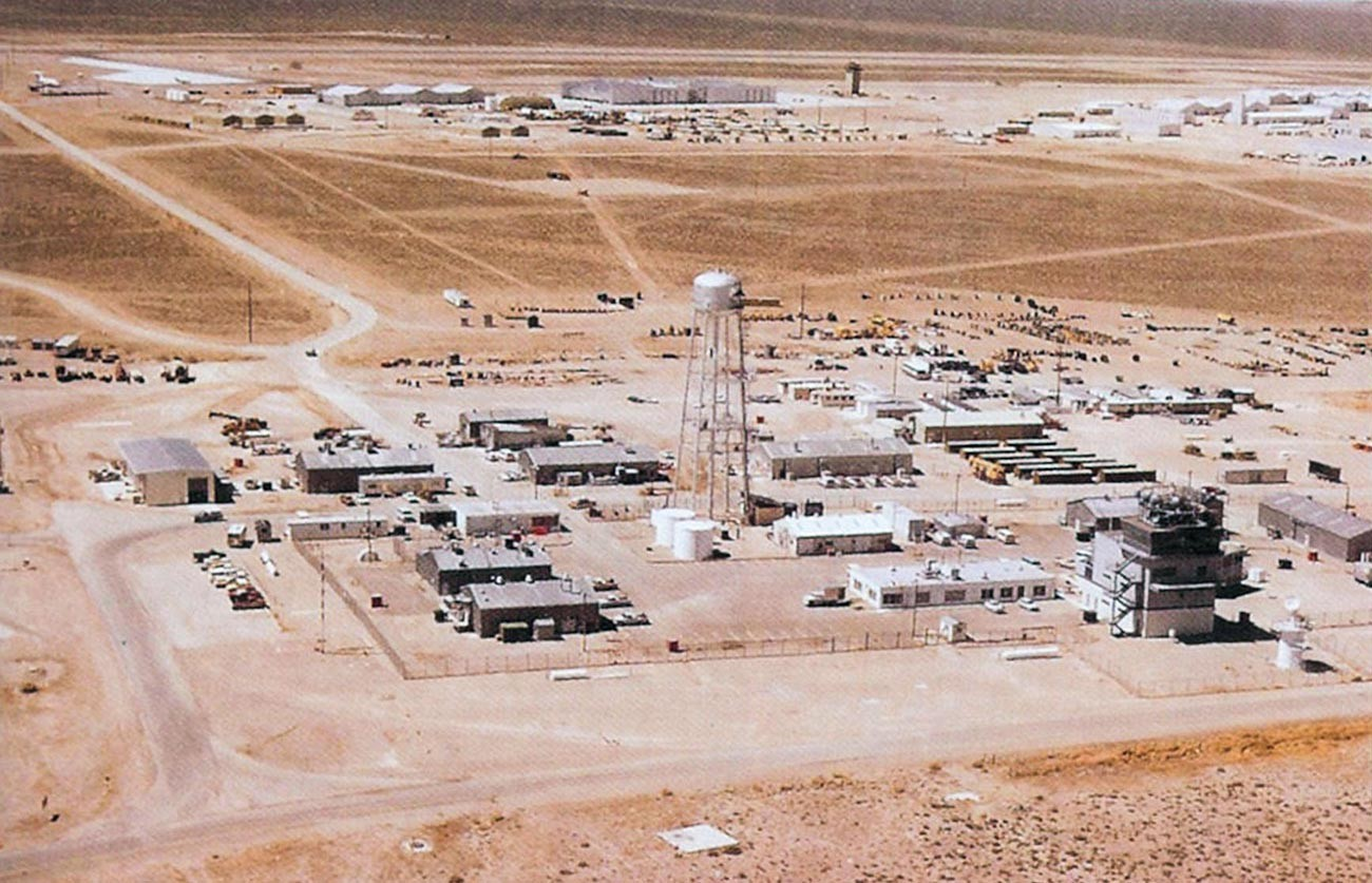Área del 4477º Escuadrón de Pruebas y Evaluación en Nevada.