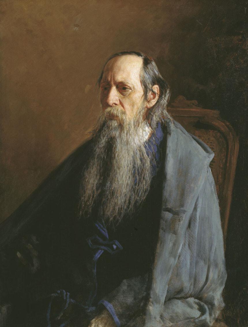 Портрет Михаила Салтыкова кисти Николая Ярошенко, 1886