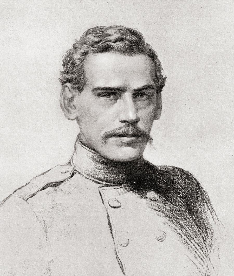 Молодой Лев Толстой-офицер во время Крымской войны
