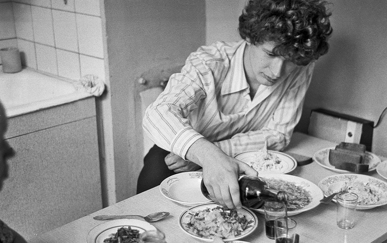 La cucina era il luogo per mangiare, bere e fare due chiacchiere