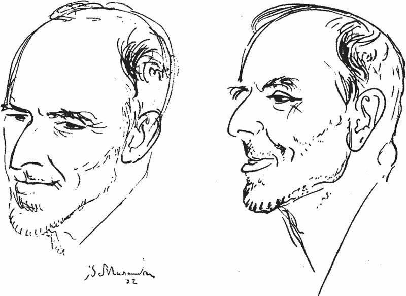 Osip Mandelshtam, disegno di V. A. Milashevskij, 1932