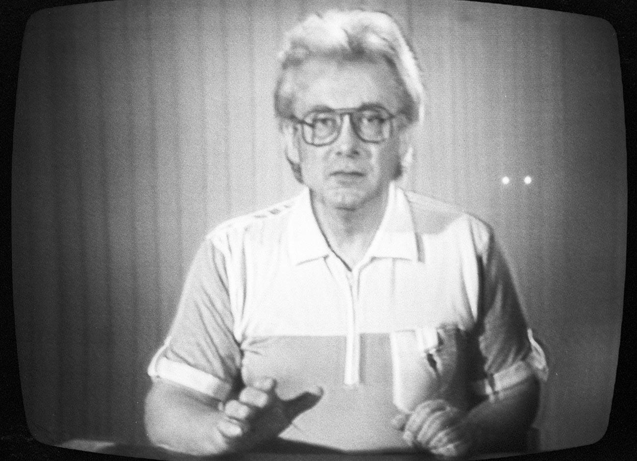 Programa de Chumak en la televisión soviética.