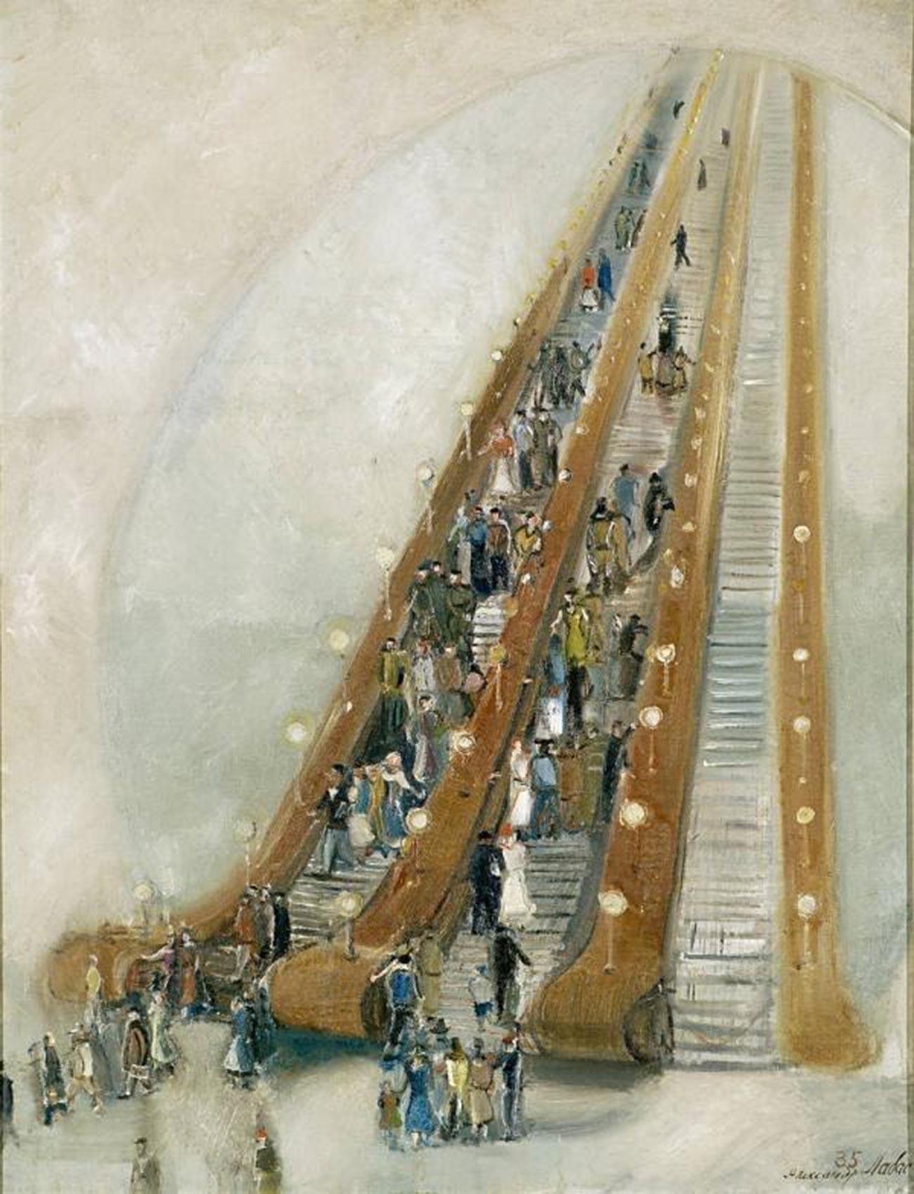 アレクサンドル・ラバス、「地下鉄の中で」、1935年