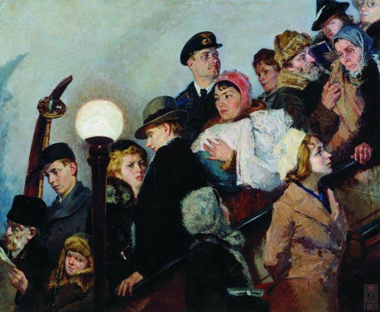 グリゴーリー・シェガリ、「エスカレーター」、1941年
