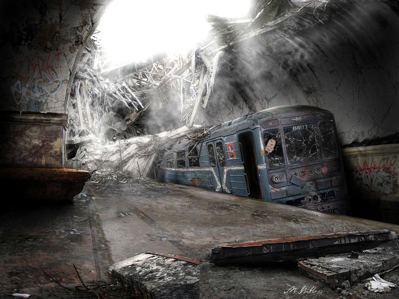 ウラジーミル・マニュヒン、「地下鉄」、2010年