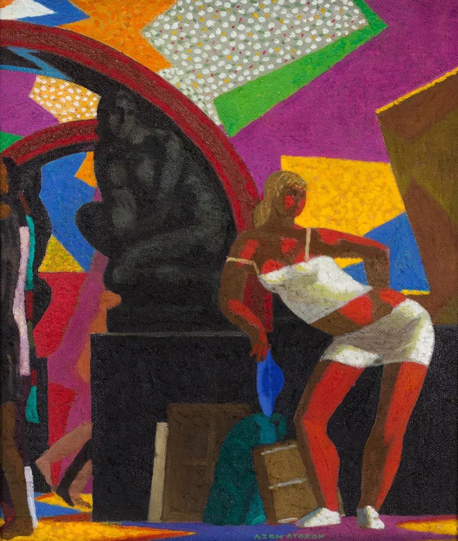 アザム・アタハノフ、「地下鉄の画家」、2018年