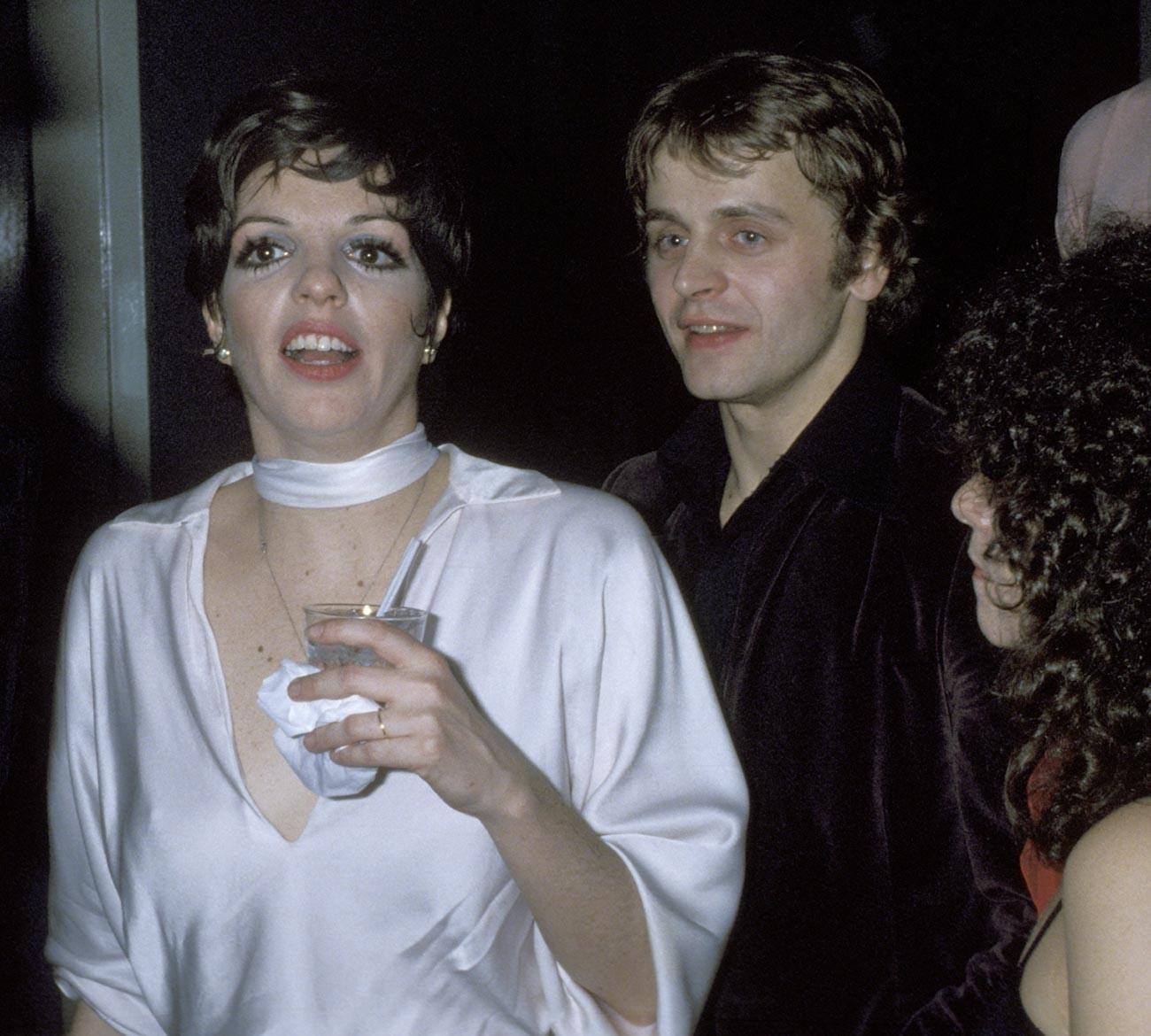Liza Minnelli in Mihail Barišnikov leta 1977.